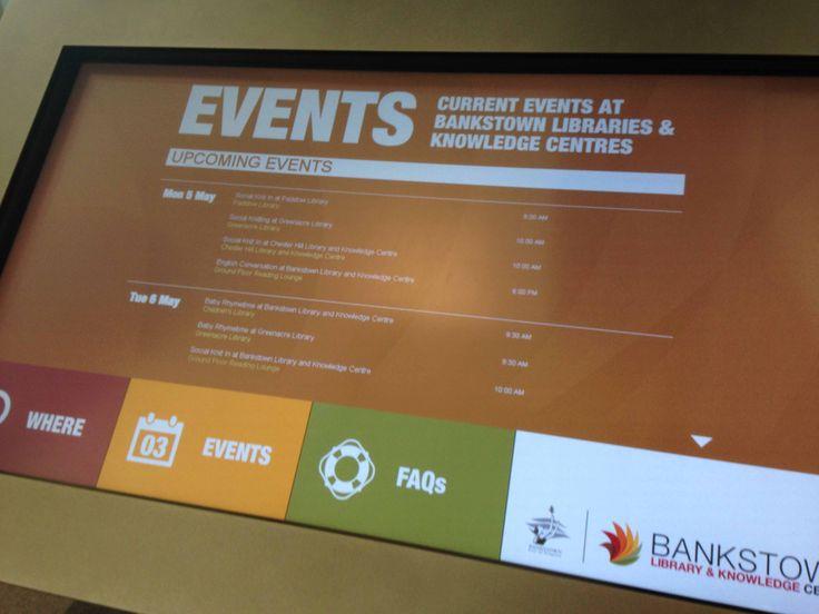 Bankstown Library  Knowledge Centre - Touchscreen Info Kiosk