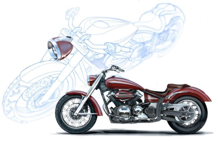 2010 Yamaha V Star 950 rendering picture - doc315703