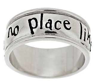 """Wizard of Oz """"There's no place like Home"""" Band Ring Size 8 J284963"""