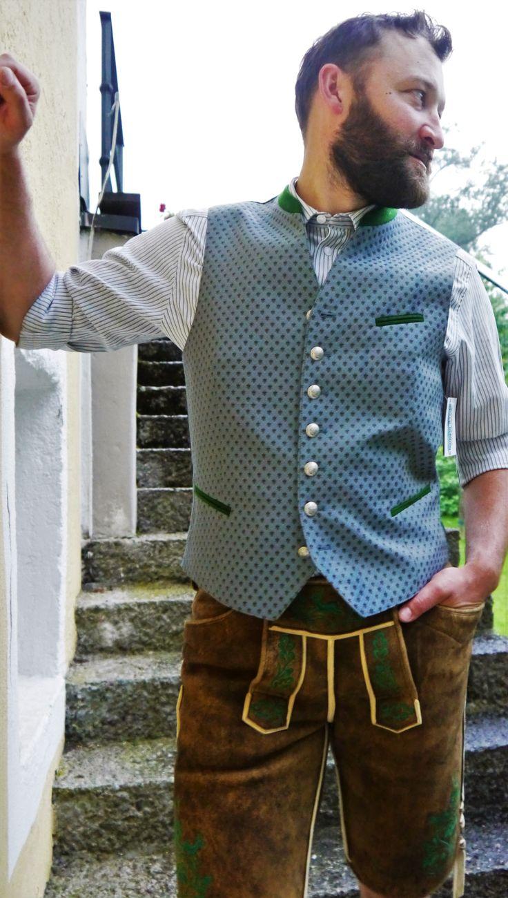Lederhose mit passender Weste und Hemd - Chiemgau Trachten