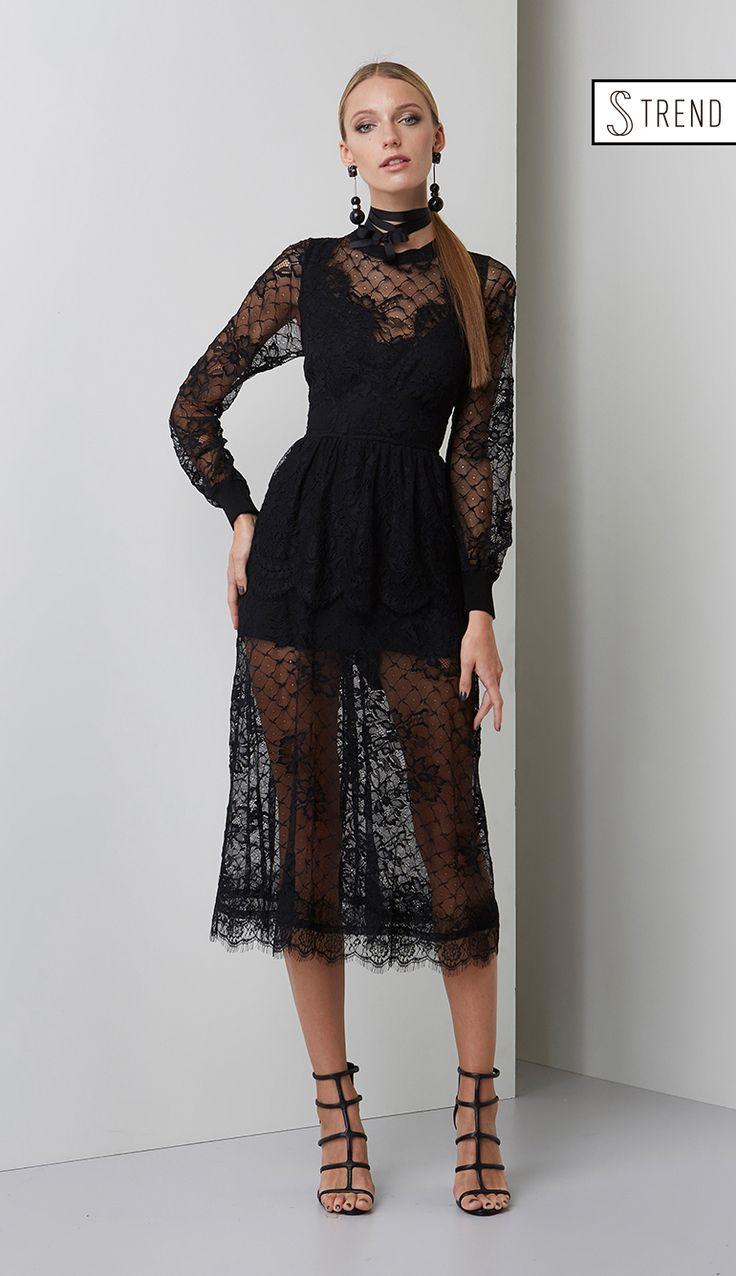 VESTIDO MIDI RENDA (S TREND) - VE29080-03 | Skazi, Moda feminina, roupa casual, vestidos, saias, mulher moderna