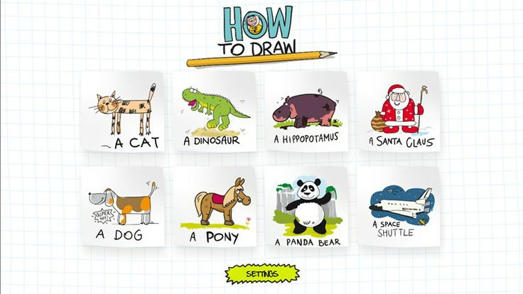 "How to draw app // will make you like drawing! Finally drawing made simple! See how you can teach your child to draw like a pro. Just listen, follow the instructions and draw on your screen. You may start with a cat as it's really simple. If it goes well don't be afraid of the ""Pony"" episode! Beautifully designed, touch oriented with funny instructions. Cool and addictive!!"