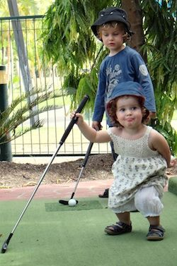 What little cuties!   Time for a round of golf with these two at BIG4 Adventure Whitsundays, Airlie Beach