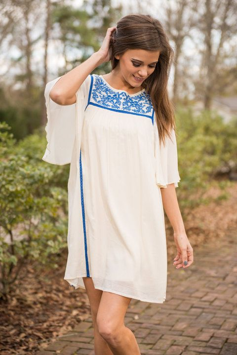 """Sweeter Than Honey Dress, Royal Blue"" 