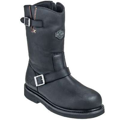 Harley Davidson Boots: Men's Steel Toe 93120 Jason St EH Motorcycle Boots