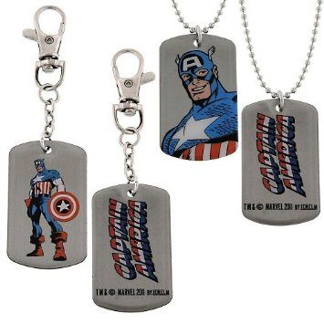 10% Discount if you Re-pin! $16.30+S/H from #TheSingingSpaniel's #BridalGifts & #Collectibles - #Retro #Classic #Captain #America #Dog #Tag & #Key #Ring #Gift #Set - #Officially #Licensed from #Marvel #Comics by #JewelM! -The #Avengers #CaptainAmerica, The #patriotic #first #superhero - #Bust #Standing #Profile #Logo #Silver Tone #Lobster #Clasp #Keychain #Key #Fob #Shotbead #Ball #Chain #Necklace #Lanyard - Great #Groomsmen's and #Fan #Gift