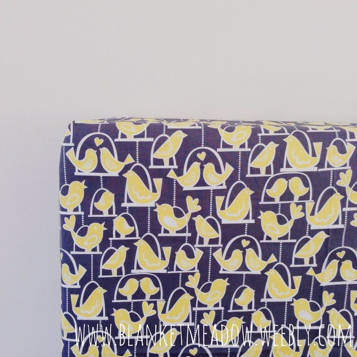 Modern Unisex Nursery! Swinging Birds in citron and grey fitted cot sheet