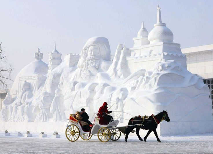 Snow sculpture for Harbin Ice Festival