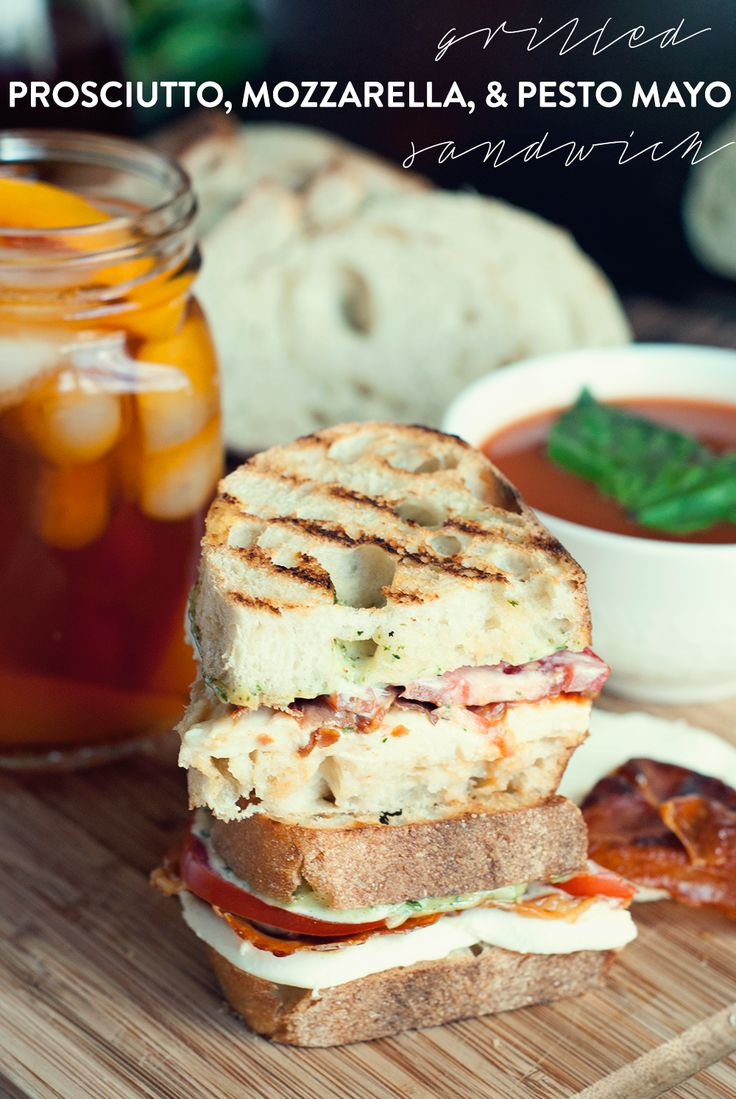 This grilled prosciutto, mozzarella, and pesto mayo sandwich is bold and flavorful! Yum! #TEArifficPairs #shop #cbias