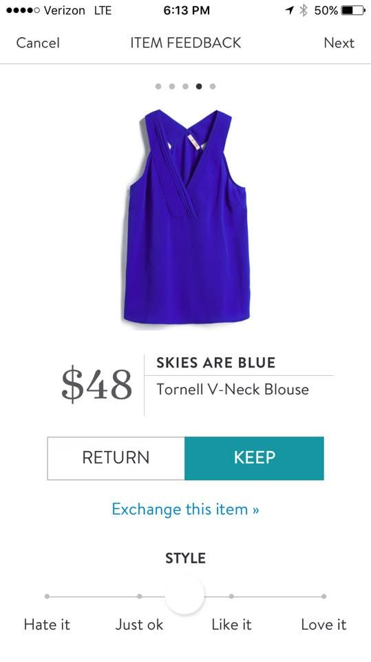 Stitch Fix Skies are Blue Tornell V-Neck Blouse