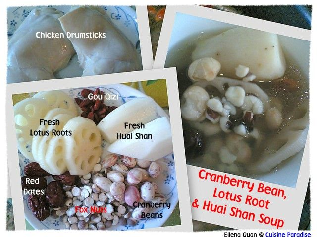 9 best chinese herbal soups images on pinterest chinese cuisine cranberry bean lotus root huai shan soup forumfinder Choice Image