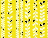 Leaf stripe in yellow - Timeless Treasures
