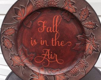 Decorative Fall Charger Plate & 76 best Charger Plates images on Pinterest | Charger plates Vinyl ...