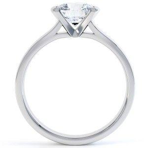 Pink Diamond Emerald Cut Engagement Rings