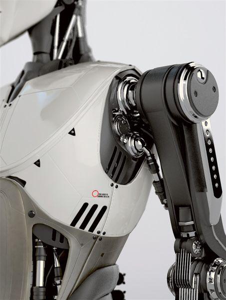 futuristic, robot