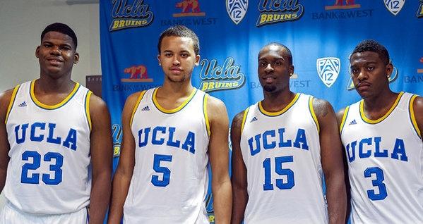 #UCLA's Tony Parker, Kyle Anderson, Shabazz Muhammad, and Jordan Adams #Bruins #Basketball