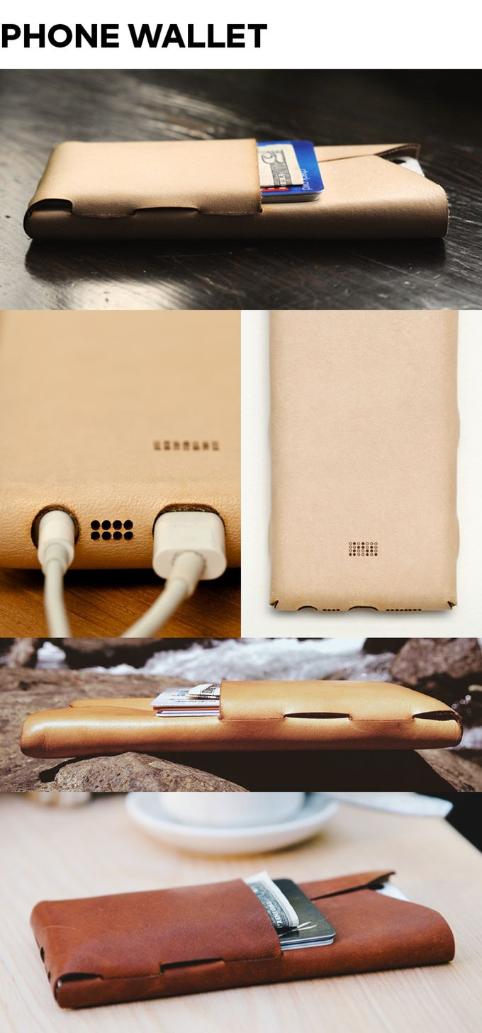 ПАКТ - Threadless, Glueless Случаи кожа ПАКТ - Kickstarter