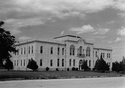 1897 Brazoria County courthouse, Angleton, Texas vintage photo