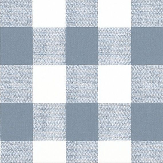 Blue Plaid Table Runner Large Gingham Table Runner Light