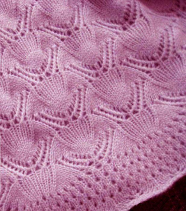 Clam lace free knitting Stitch.