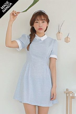 Today's Hot Pick :可愛配色褶邊連衣裙 http://fashionstylep.com/SFSELFAA0014332/stylenandatw/out 可愛配色褶邊設計連衣裙 親膚柔軟面料穿著更加舒服 甜美配色加上可愛的褶邊袖提升可愛指數 顯瘦剪裁設計穿著勾勒出完美線條 穿上盡顯小清新風格! 共2種顏色,強烈推薦給可愛的姐妹們哦~~^^