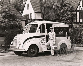 Milk delivered to your home! - 1950's and 1960's. I had GOAT Milk delivered in Saigon Vietnam.