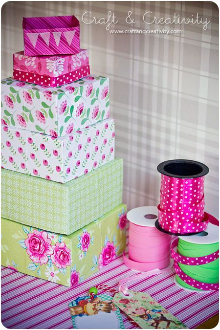 Paper Boxes - Making your own box out of paper. Step-by-Step Tutorial...instructions can be followed to make just about any size box that you have a square sheet of paper to start from.