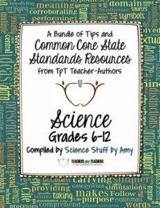 Common Core Science FREE Back-to-School ebook: Grades 6-12 - Teachers Pay Teachers