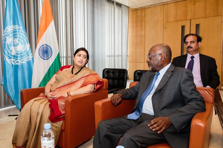 Bilateral Meeting of Hon'ble Union Minister of Textiles Smt. Smriti Zubin Irani with Dy. Director General, Paris along with Shri Rakesh Kumar, Executive Director- EPCH