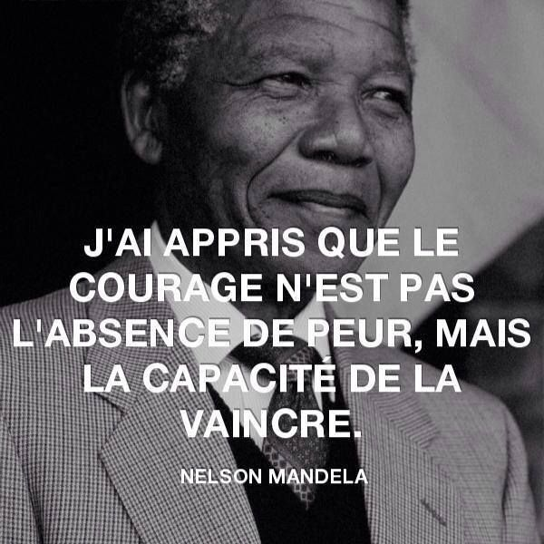 """""""I learned that courage was not the absence of fear, but the triumph over it."""""""
