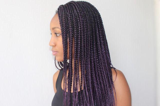 Oyime's Musings : Purple Box Braids!!!
