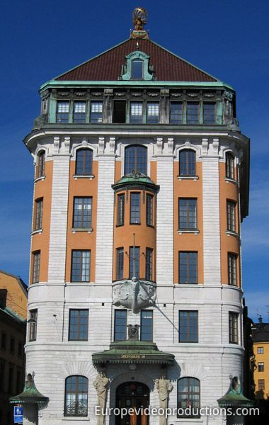 Gamla Stan (vieille ville) de Stockholm en Suède