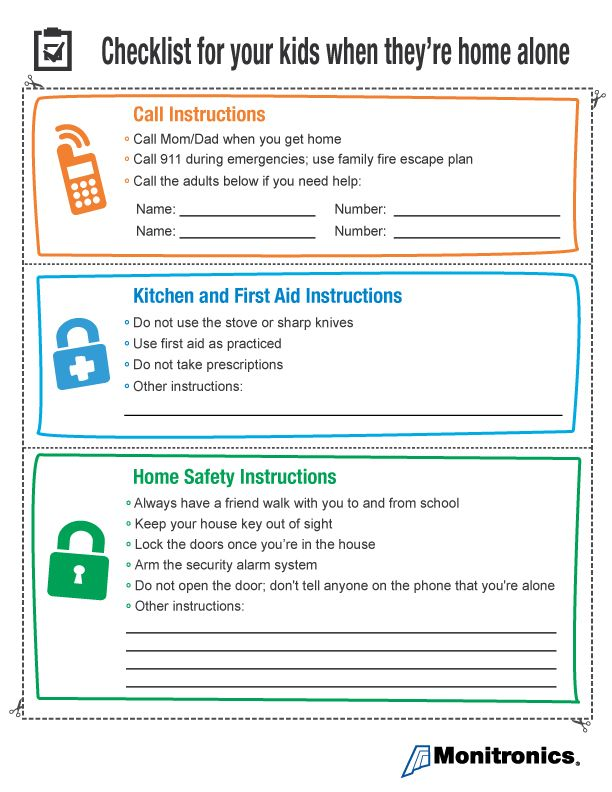 Are your kids home alone after school? Post this safety checklist on your refrigerator to help ensure they get home safe, understand dangers...