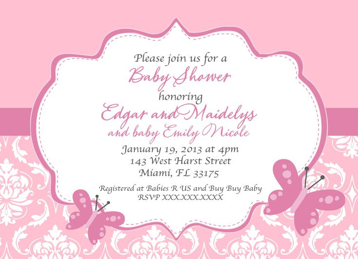 Butterfly Baby Shower Invitations Free