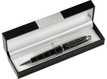 #Kugelschreiber mit Drehklicksystem. In eleganter schwarzer Kassette. Das ideale kleine #Werbegeschenk