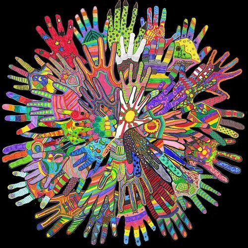 Tomado de: http://www.mpmschoolsupplies.com/ideas/1598/vibrant-hand-print-mural-for-mlk-day/