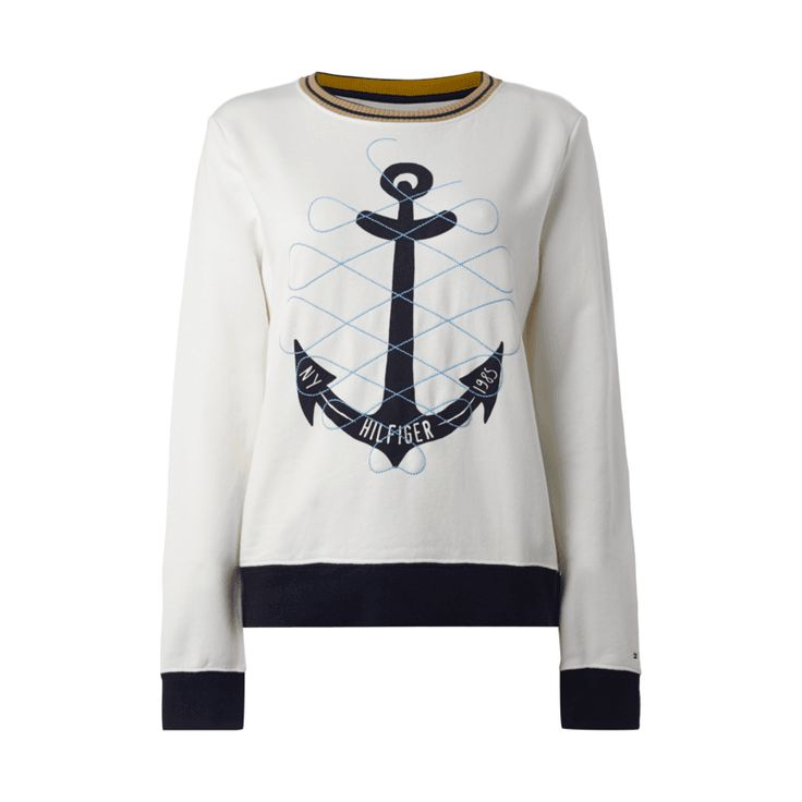 #Tommy #Hilfiger #Damen #Sweatshirt mit #Anker-Print und #Stickerei - Damen…