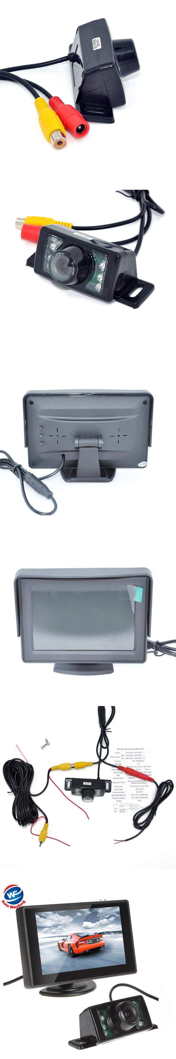 "7LED Car Rearview Camera+4.3"" TFT LCD Monitor  HD 170 Angle car backup camera Car Monitor Auto Parking Assistance System"