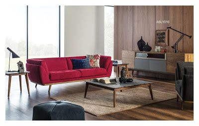 AS Koltuk Home Decor: For Sale - Luxury Modern Red Sofa