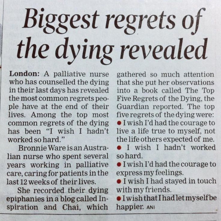 Biggest #regret of #dying