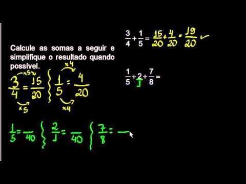 Frações - Adição de frações com denominadores diferentes - correção do exercício | Aula do Guto - YouTube