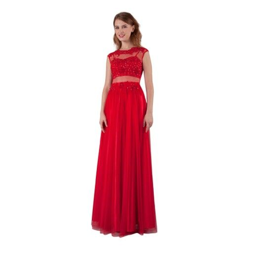 Red lace and tulle formal dress....stunning!!!
