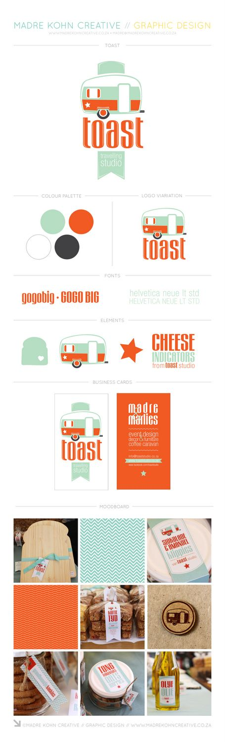 Toast Travelling Studio fun retro corporate identity designed by Madre Kohn Creative. http://www.madrekohncreative.co.za/