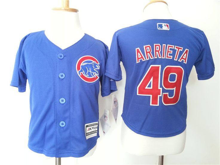 Infant MLB Chicago Cubs #49 Jake Arrieta Jerseys