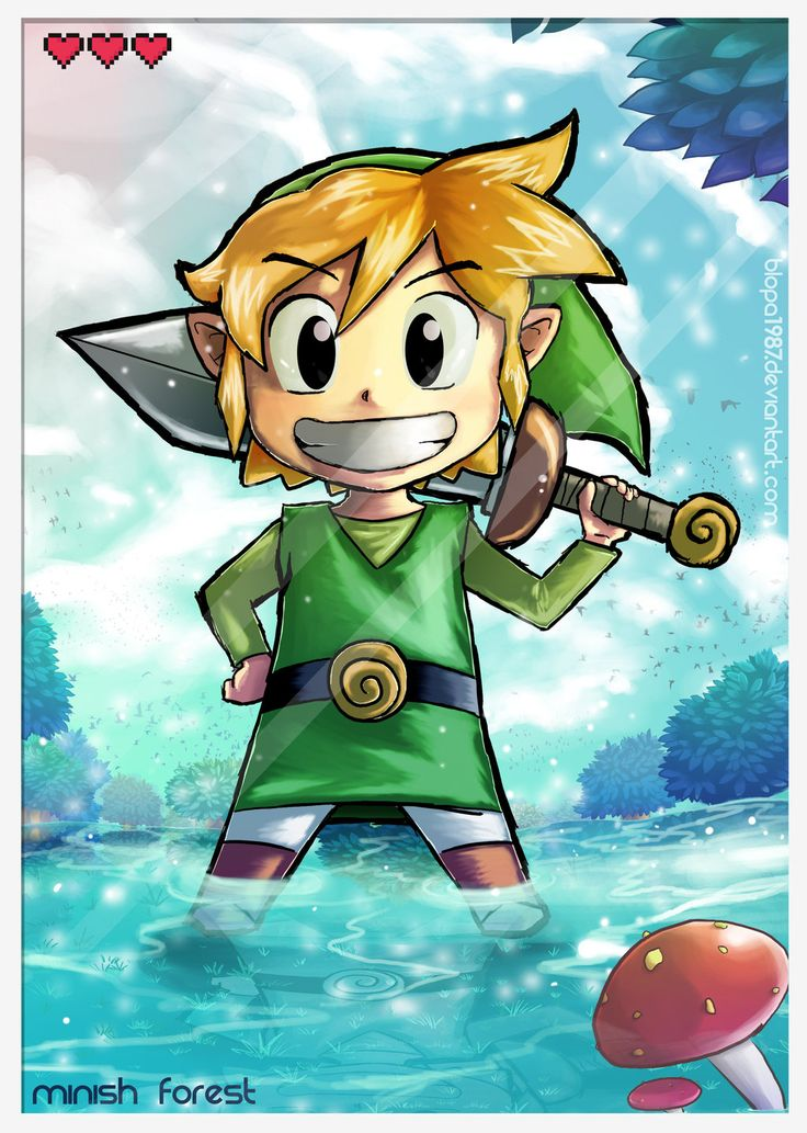 The Legend of Zelda: The Minish Cap, Toon Link / The hero of hyrule by Blopa1987 on deviantART
