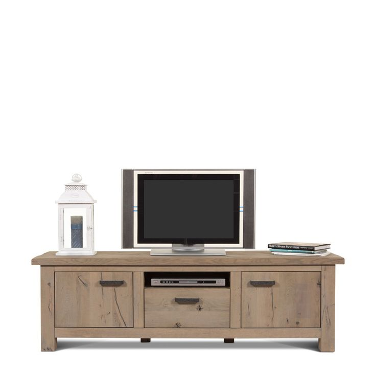 Meubels | Kasten | Beaufort (180cm), TV dressoir (gedisseld), Kiezel, eiken mat gelakt - De Bommel Meubelen
