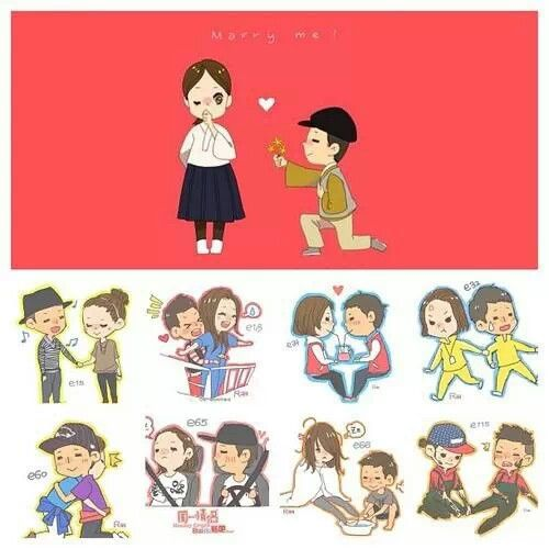 Running man: Monday couple ... So cute. I wonder who drew this