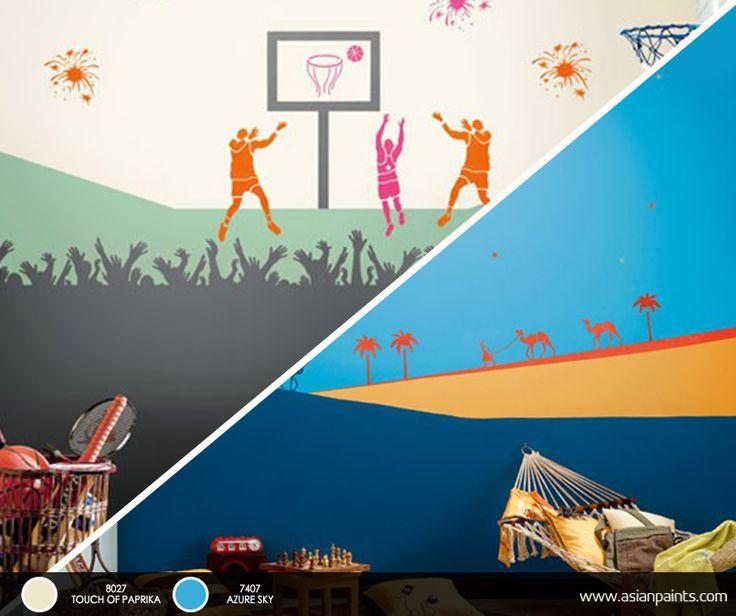 Kids Bedroom Stencils 52 best kids' room inspirations images on pinterest | asian paints