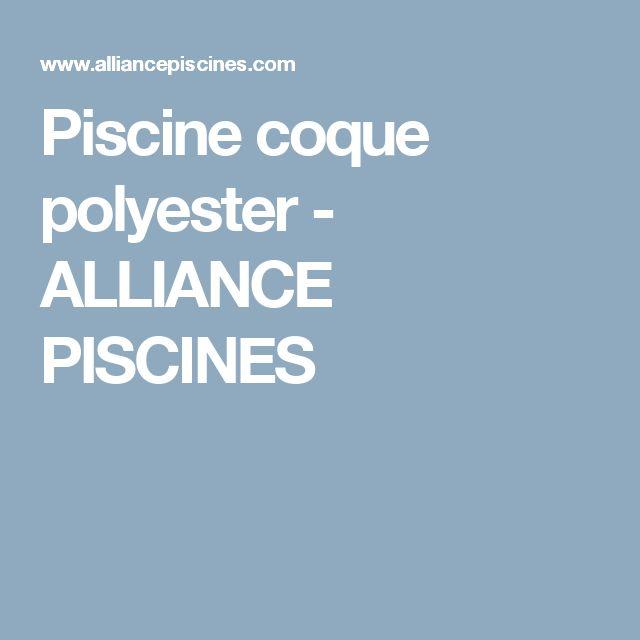 Piscine coque polyester - ALLIANCE PISCINES