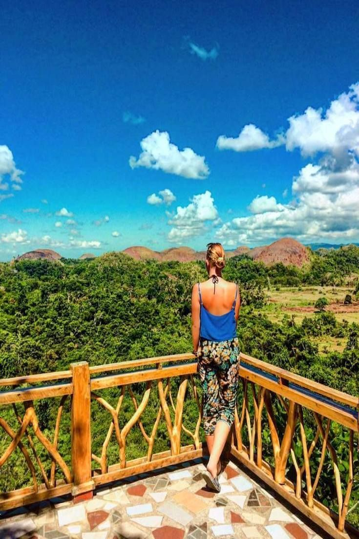 """Chocolate Hills - Bohol, Philippines backpack_full_adventure """"There are at least 1,700 hills spread over an area more than 50 square kilometres. They are covered with green grass that turns brown (like Chocolate) during the dry season, hence the name"""""""